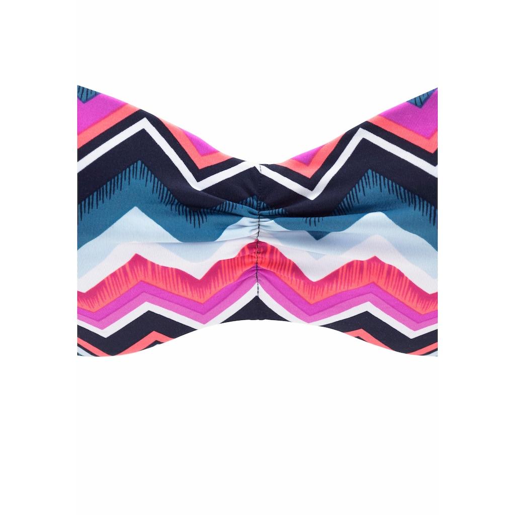 LASCANA Bandeau-Bikini-Top »Pico«, mit angesagtem Zick-Zack-Muster