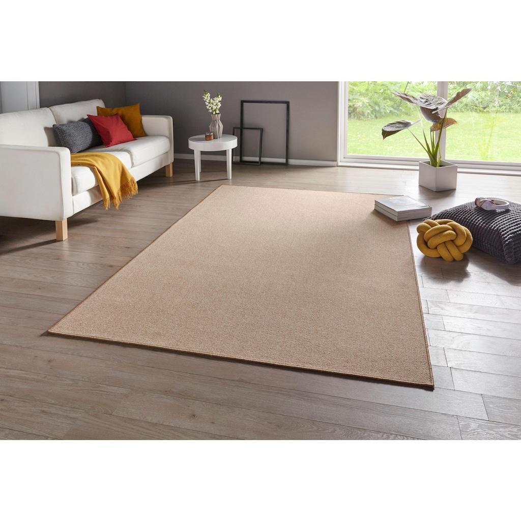BT Carpet Teppich »Casual«, rechteckig, 4 mm Höhe, Kurzflor, Wohnzimmer