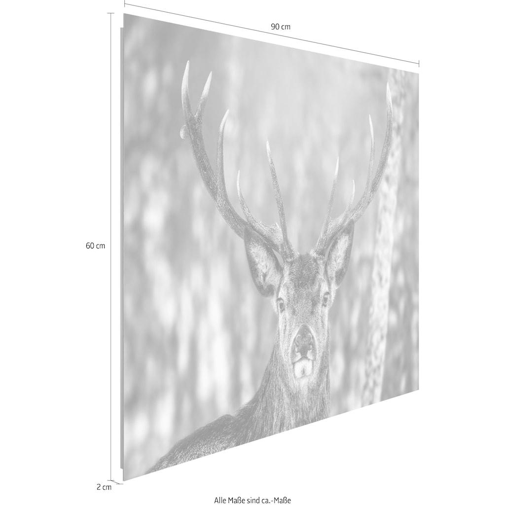 Reinders! Holzbild »Deco Panel 60x90 Winter Deer«