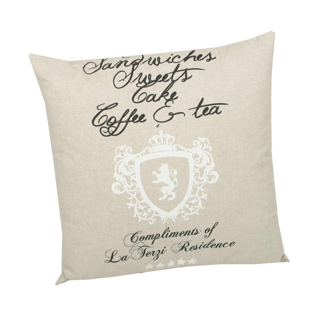 GO-DE Dekokissen »High Tea«, (L/B): ca. 50x50 cm