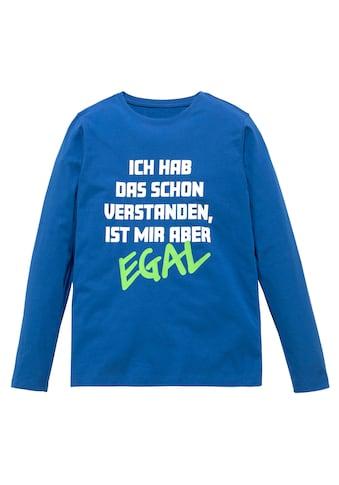 KIDSWORLD Langarmshirt »ICH HAB DAS SCHON VERSTANDEN.....« kaufen