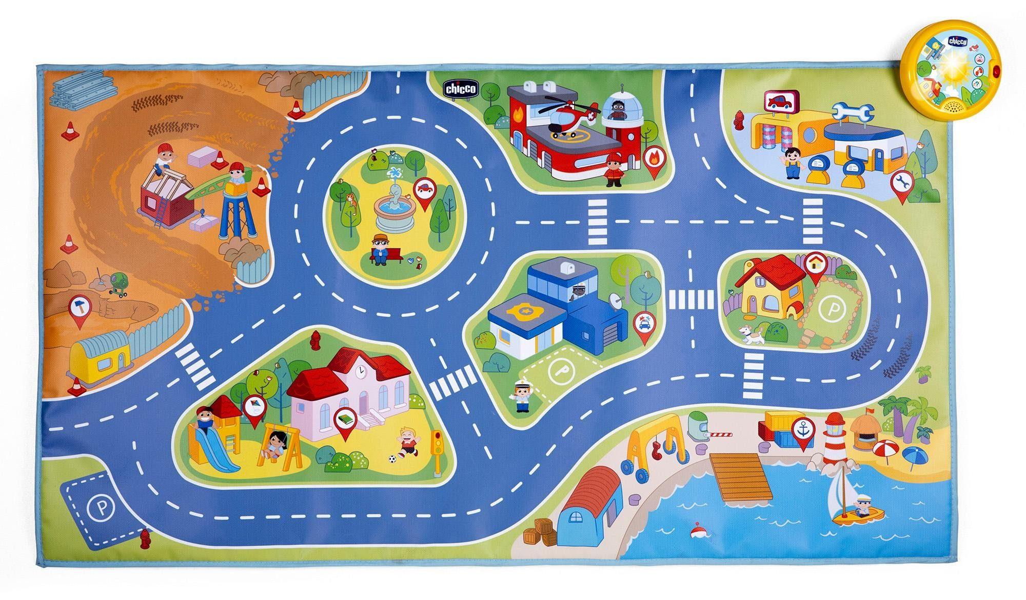Chicco Spielmatte, Interaktive Spielmatte City bunt Kinder Lernspiele Lernspielzeug