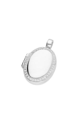GIORGIO MARTELLO MILANO Medallionanhänger »Medaillon oval mit Zirkonia« kaufen