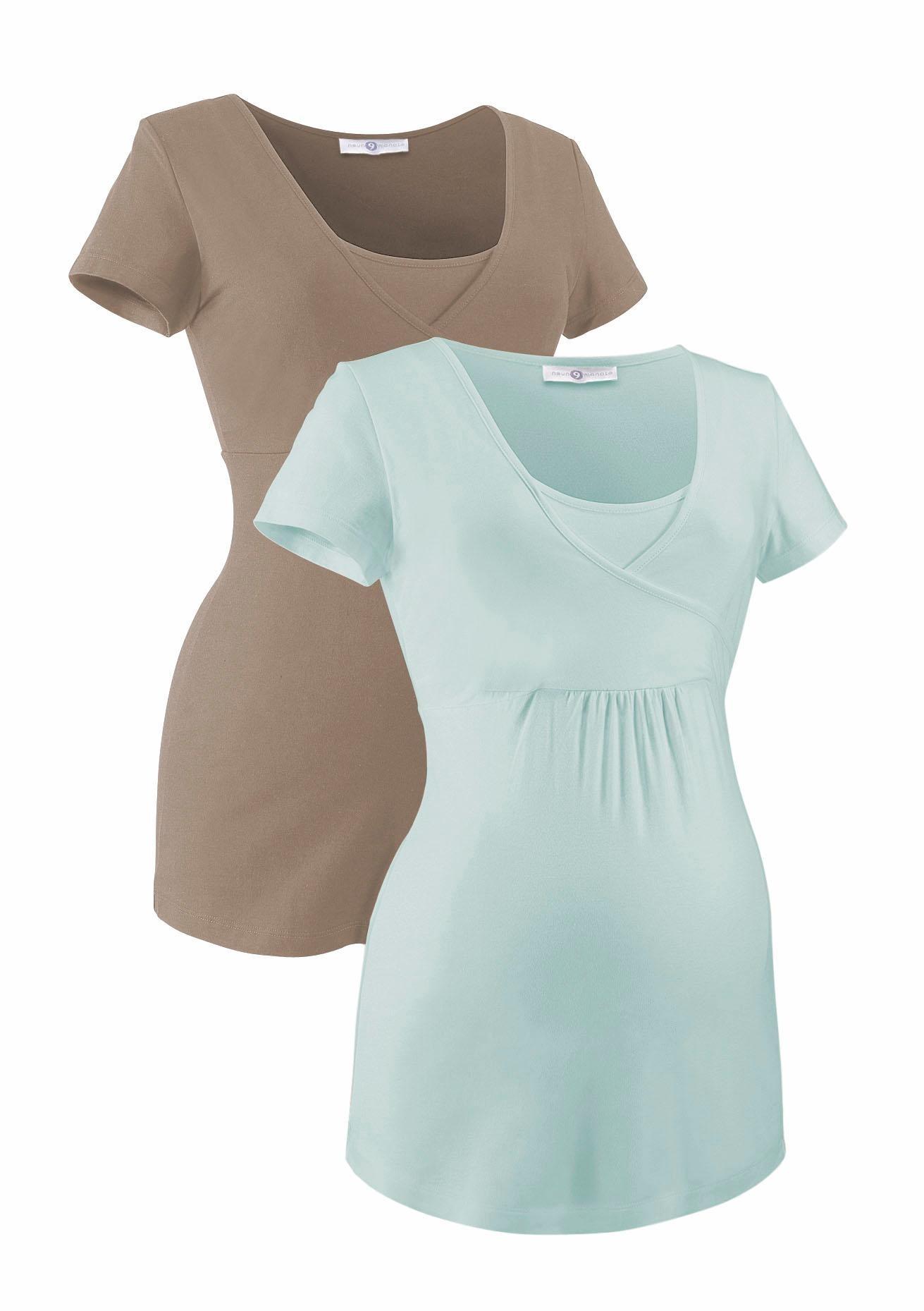 Neun Monate Umstandsshirt (Packung 2 tlg) | Bekleidung > Umstandsmode > Umstandsshirts | neun monate