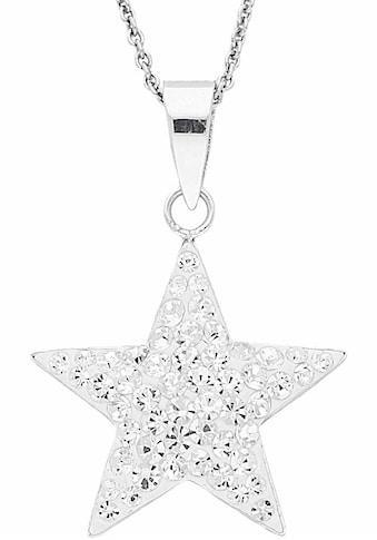 Firetti Kette mit Anhänger »Stern«, mit Kristallen kaufen