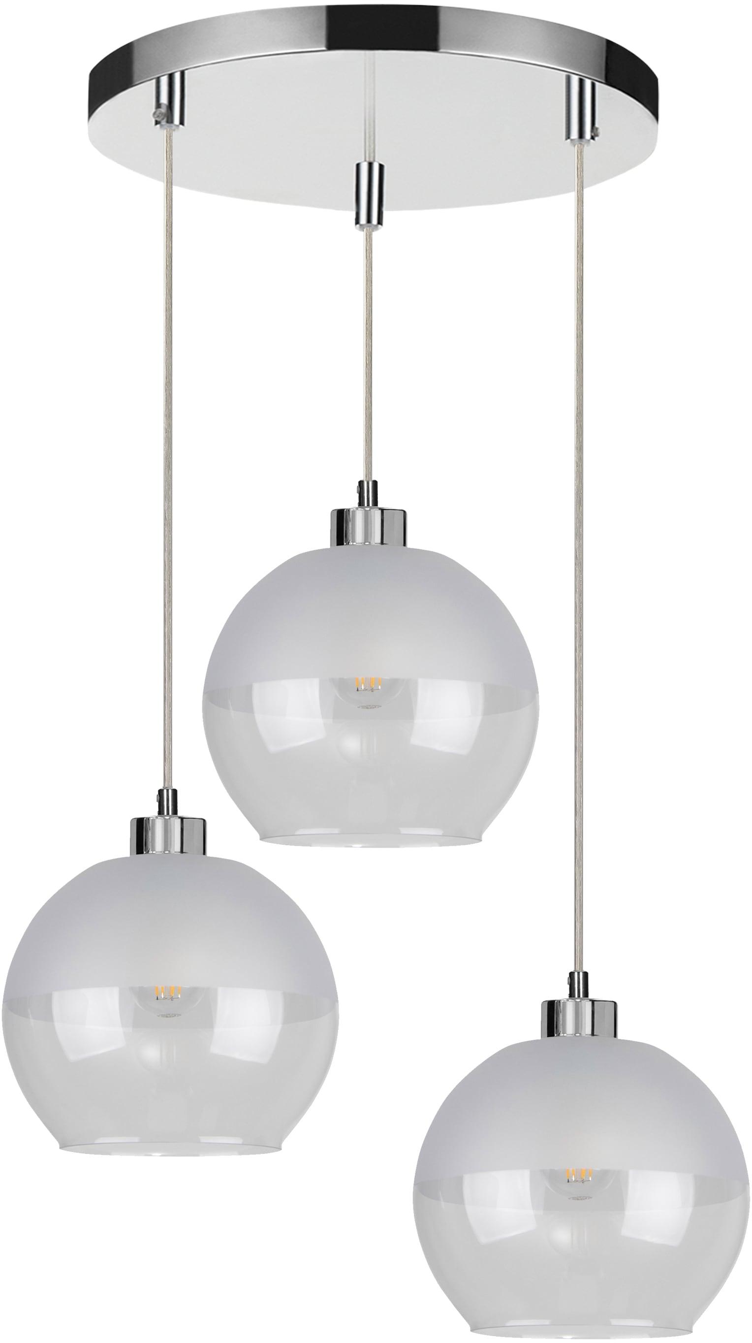 SPOT Light Pendelleuchte FRESH, E27, 1 St., Hängeleuchte, Lampenschirm aus Glas, in der Höhe einstellbar / Kabel kürzbar, besonders dekorativ durch wertiges Glas, für LED-Leuchtmittel geeignet, Made in EU