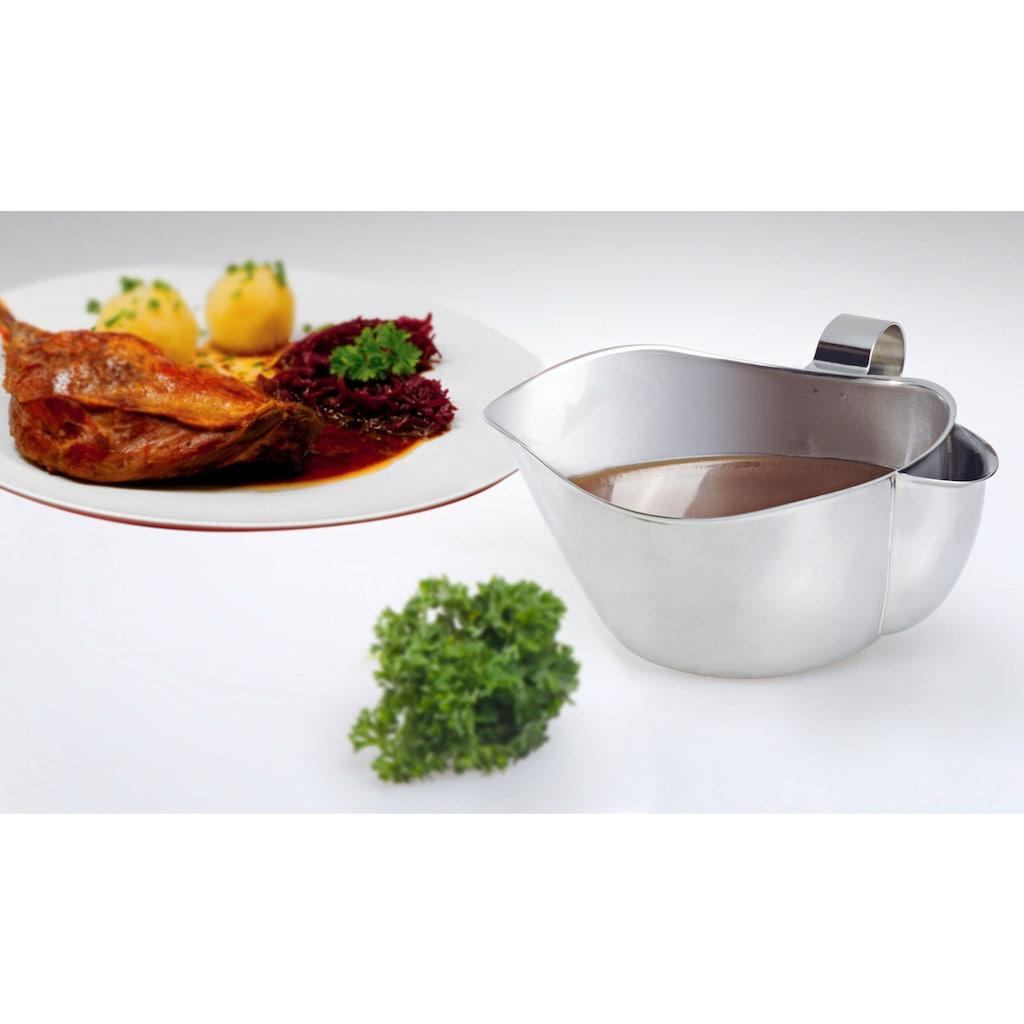 GSD HAUSHALTSGERÄTE Fetttrennkanne, Edelstahl, Sauciere, 600 ml, Edelstahl