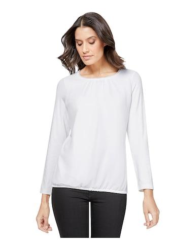 Blusenshirt im angesagten Materialmix kaufen