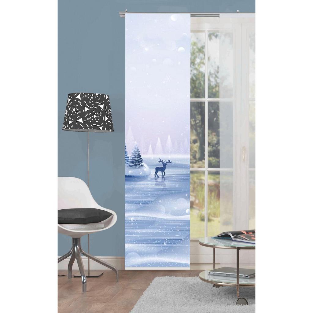 HOME WOHNIDEEN Schiebegardine »RENTIER«, HxB: 245x60, Schiebevorhang Digitaldruck