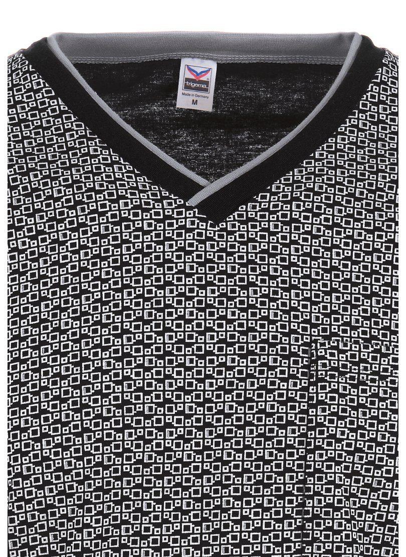 Trigema Langarm Nachthemd mit Alloverdruck