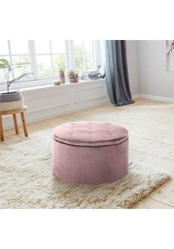 andas Pouf »Rita«, mit Innenstauraum und einem weichen Velvetbezug, Durchmesser Ø 60 cm kaufen