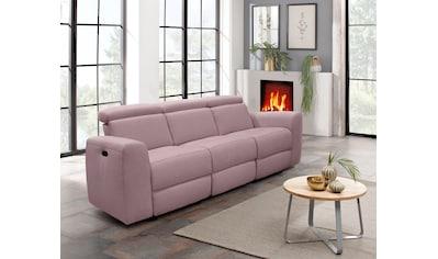 Home affaire 3-Sitzer »Sentrano«, wählbar zwischen manueller oder elektrischer... kaufen