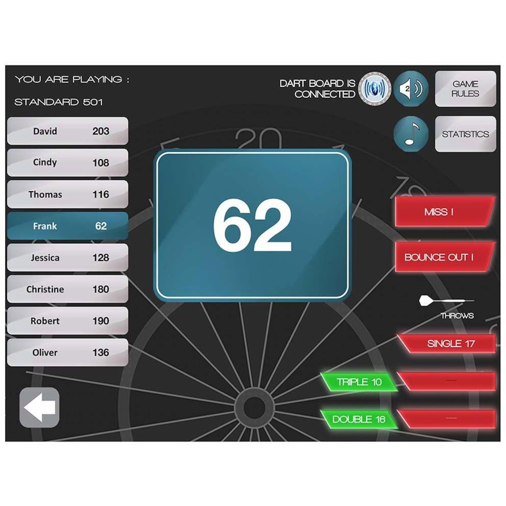 SMARTNESS® Dartscheibe »Elektronische Dartscheibe, Turbo Charger 4.0«
