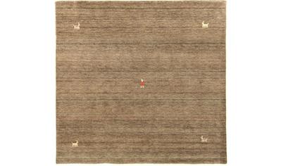 morgenland Wollteppich »Gabbeh Teppich handgewebt braun«, rund, 8 mm Höhe, Kurzflor kaufen