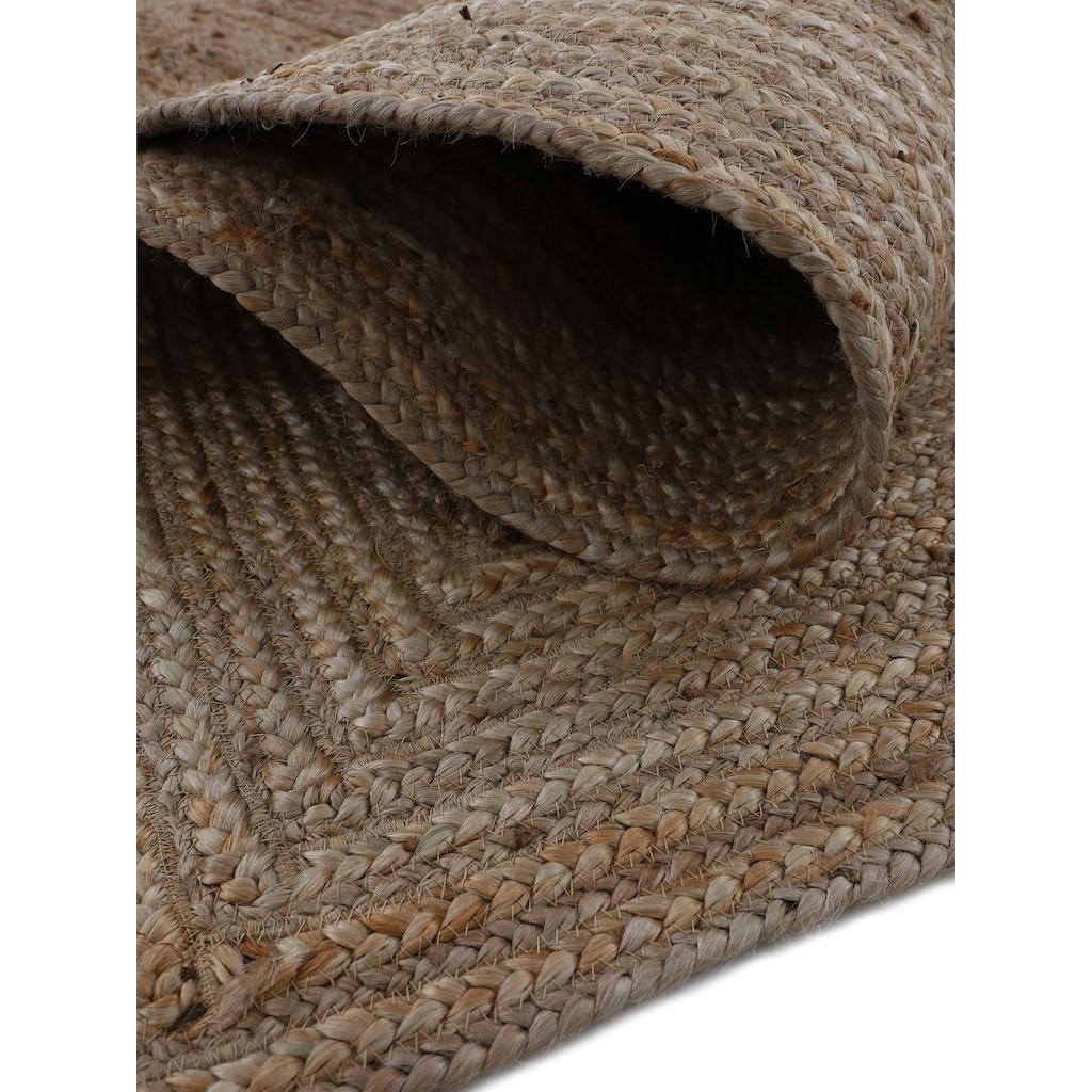 carpetfine Läufer »Nele«, rechteckig, 6 mm Höhe, Wendeteppich 100% Jute