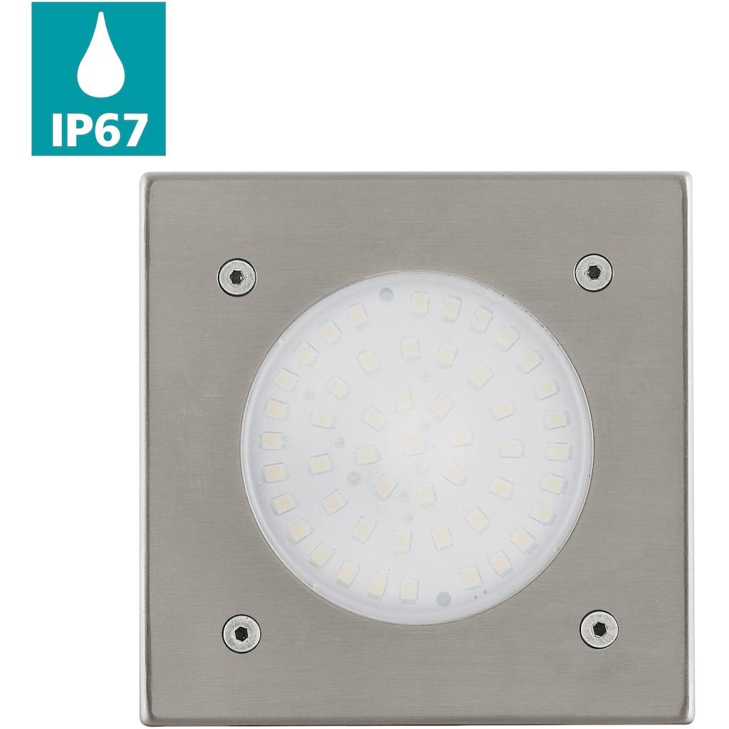 EGLO LED Einbauleuchte »LAMEDO«, LED-Board, Warmweiß, LED Bodeneinbauleuchte - Outdoor