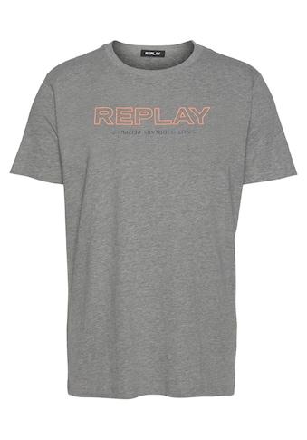 Replay T-Shirt, mit Markenprint vorne kaufen