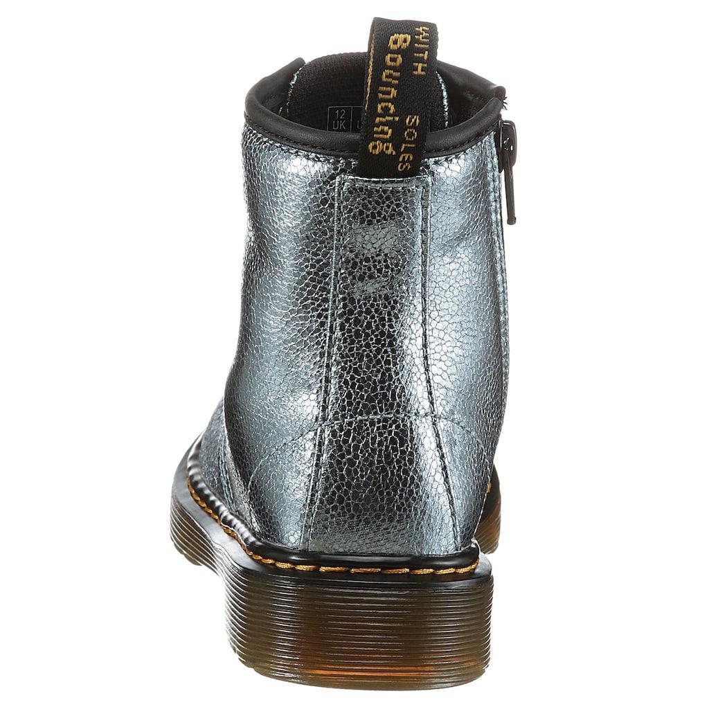 DR. MARTENS Schnürstiefel »8 Eye Boot Silver Spot Metallic«