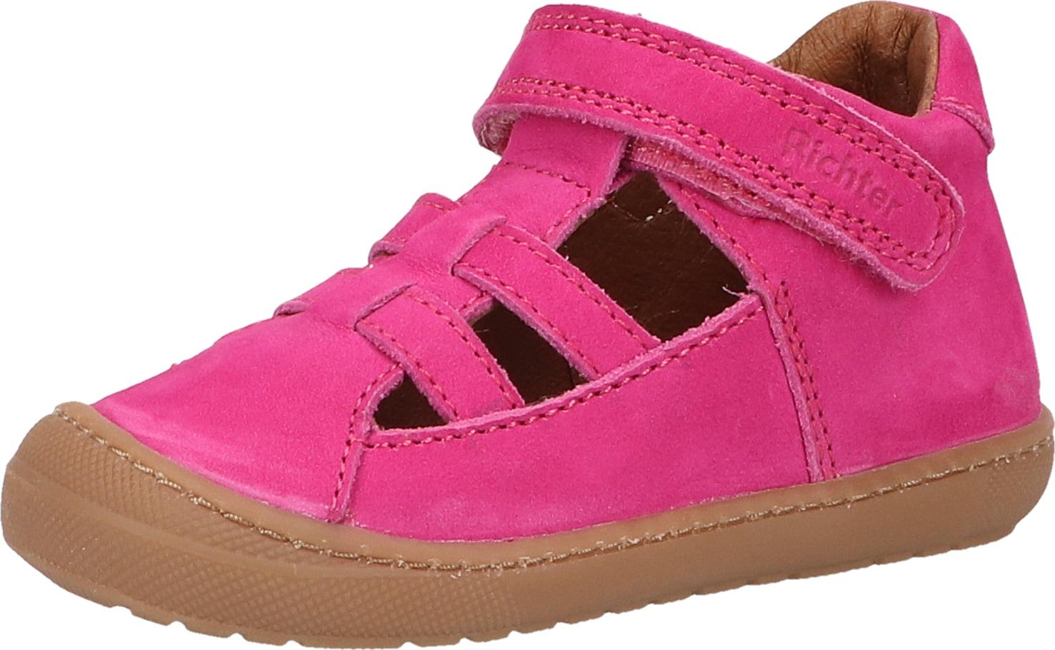 Richter Lauflernschuh Nubukleder rosa Kinder Lauflernschuhe Babyschuhe