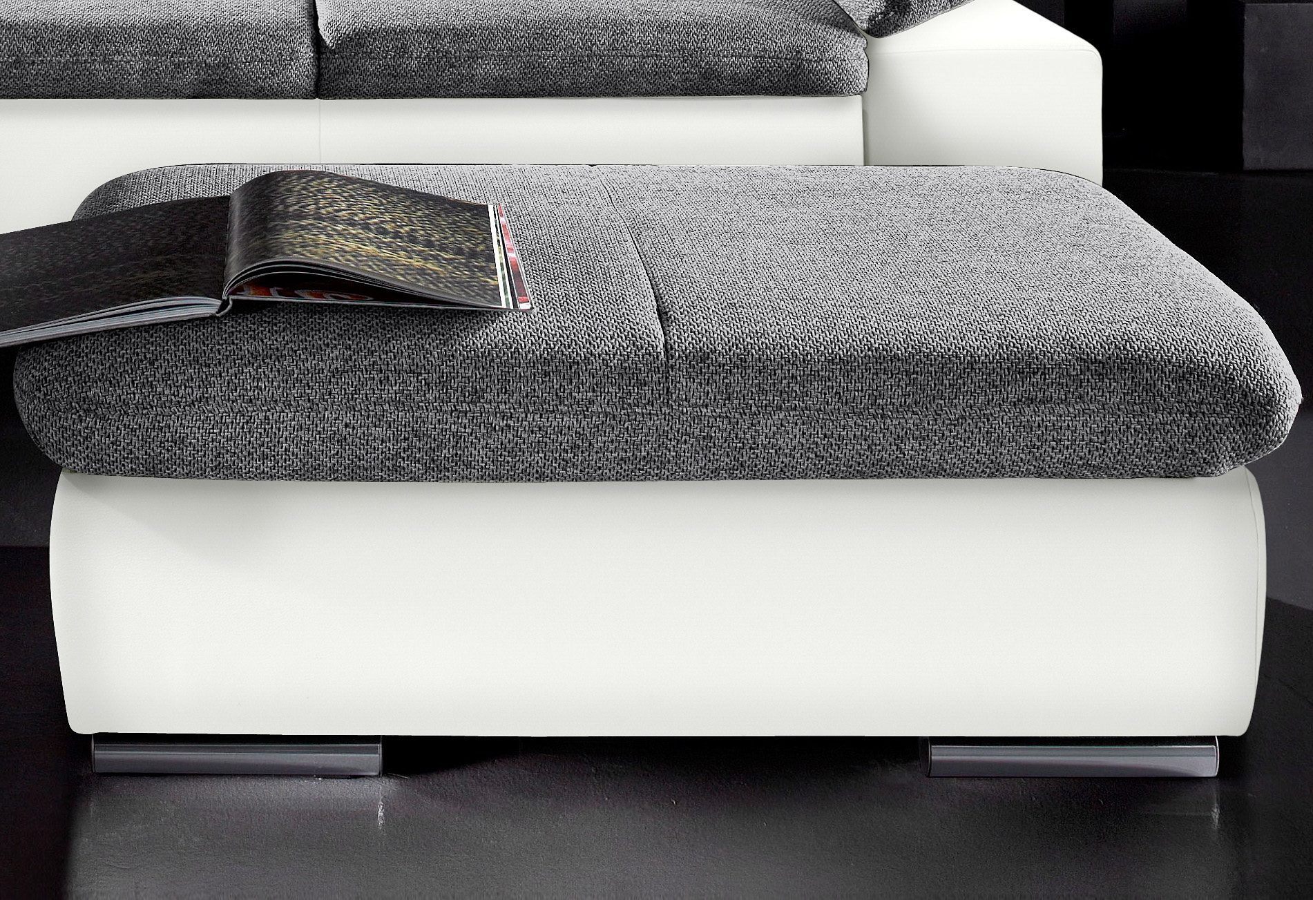 sit&more Hocker | Wohnzimmer > Hocker & Poufs > Sitzhocker | Weiß | Kunstleder | Sit&More