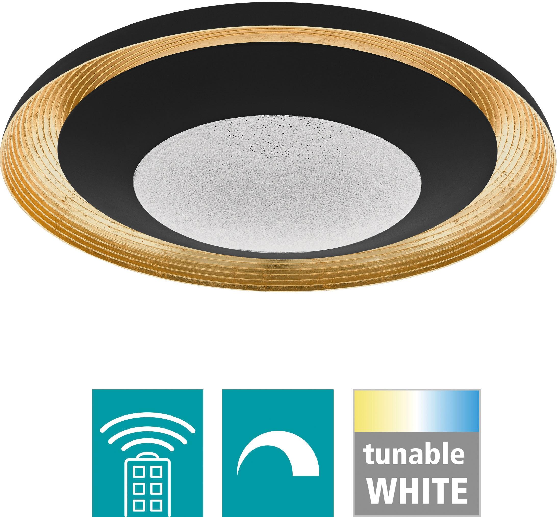 EGLO Deckenleuchte CANICOSA 2, LED-Board, Extra-Warmweiß-Kaltweiß-Neutralweiß-Tageslichtweiß-Warmweiß, Steuerung über Fernbedienung, CCT