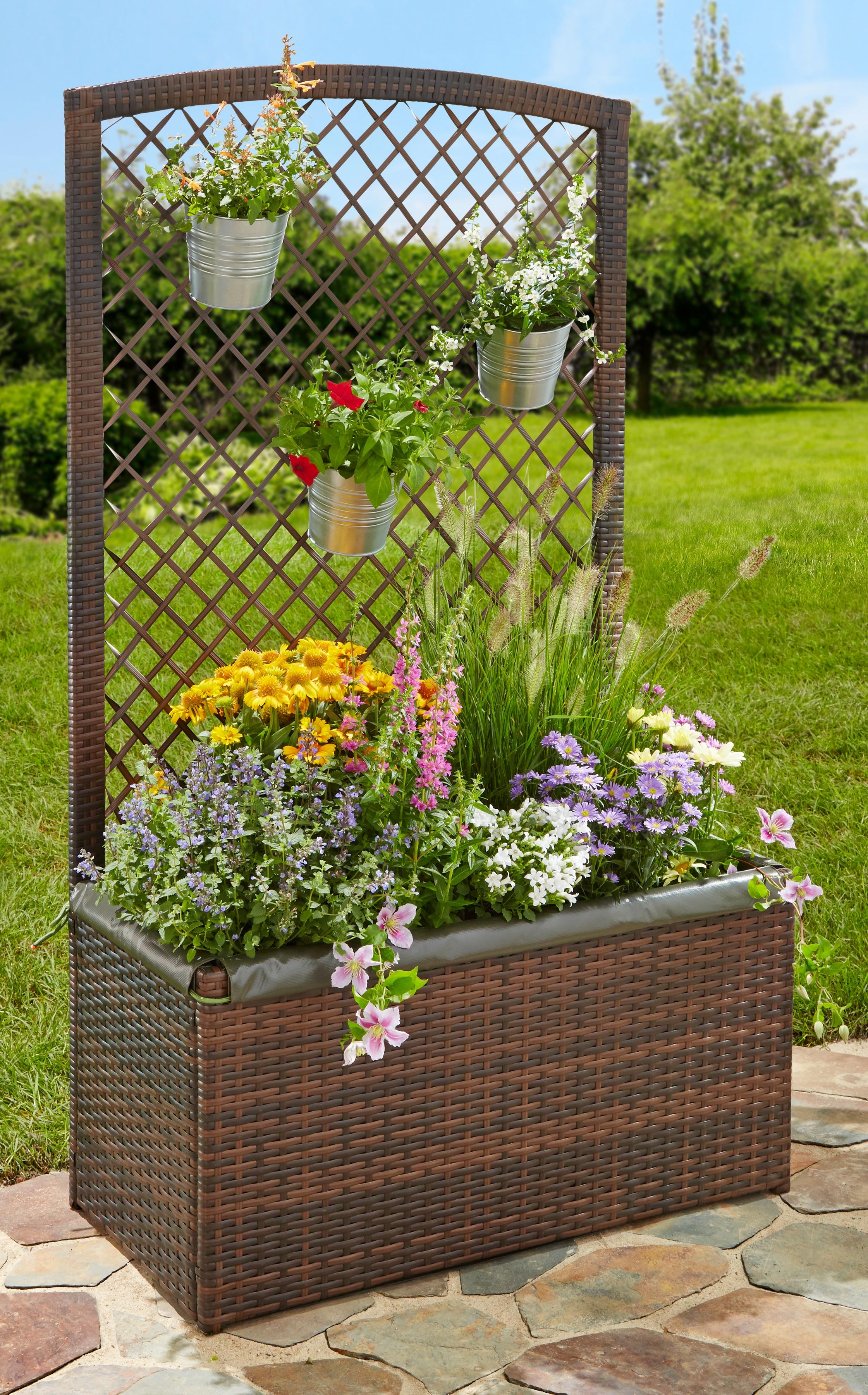 Spalier mit Pflanzkasten, BxTxH: 80x40x140 cm | Garten > Pflanzen > Pflanzkästen | Merxx
