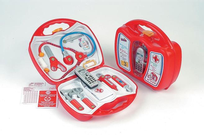 Klein Spielzeug-Arztkoffer, mit Handy, Made in Germany bunt Kinder Ab 3-5 Jahren Altersempfehlung Spielzeug-Arztkoffer
