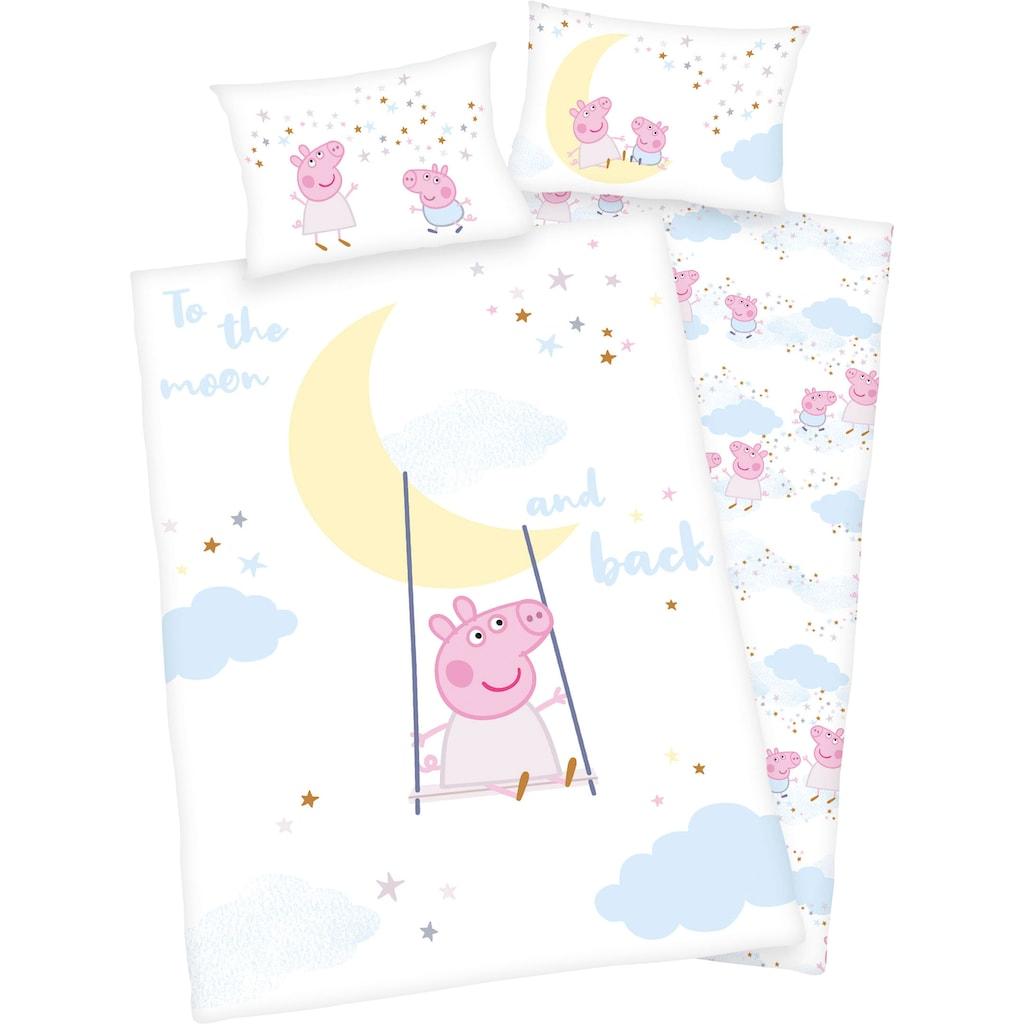 Peppa Pig Babybettwäsche »Peppa Pig«, mit niedlichem Motiv und liebevollem Schriftzug