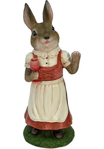 Casa Collection by Jänig Tierfigur »Frau Hase im Kleid trinkt Wein« kaufen