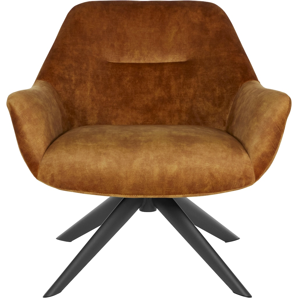 LeGer Home by Lena Gercke Loungesessel »Noemi«, In zwei Bezugsqualitäten, Sitz und Rücken gepolstert