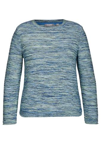 Rabe Pullover in melierter Optik mit Rundhalsausschnitt kaufen