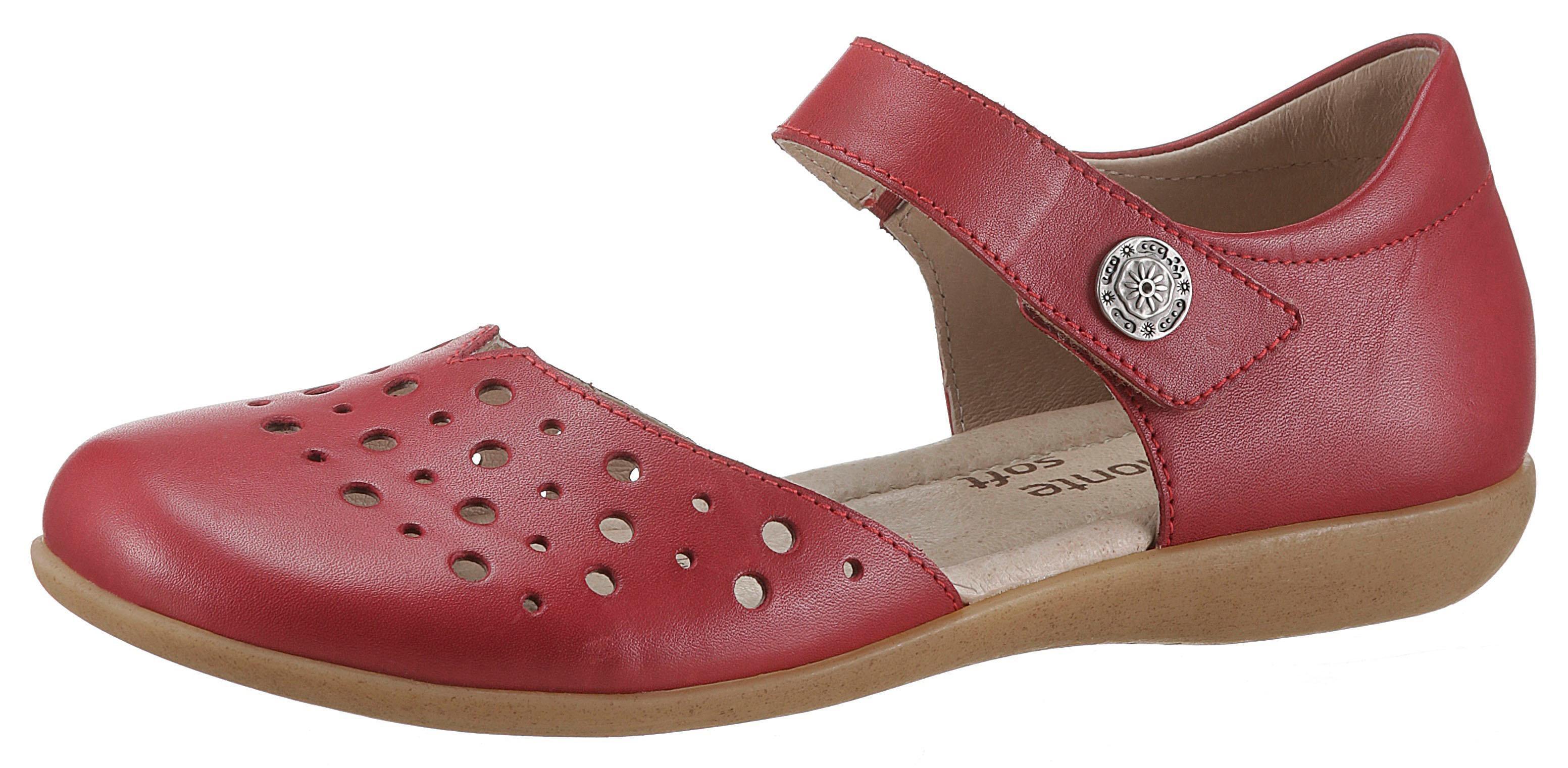Remonte Riemchenballerina   Schuhe > Ballerinas > Riemchenballerinas   Rot   Leder   Remonte