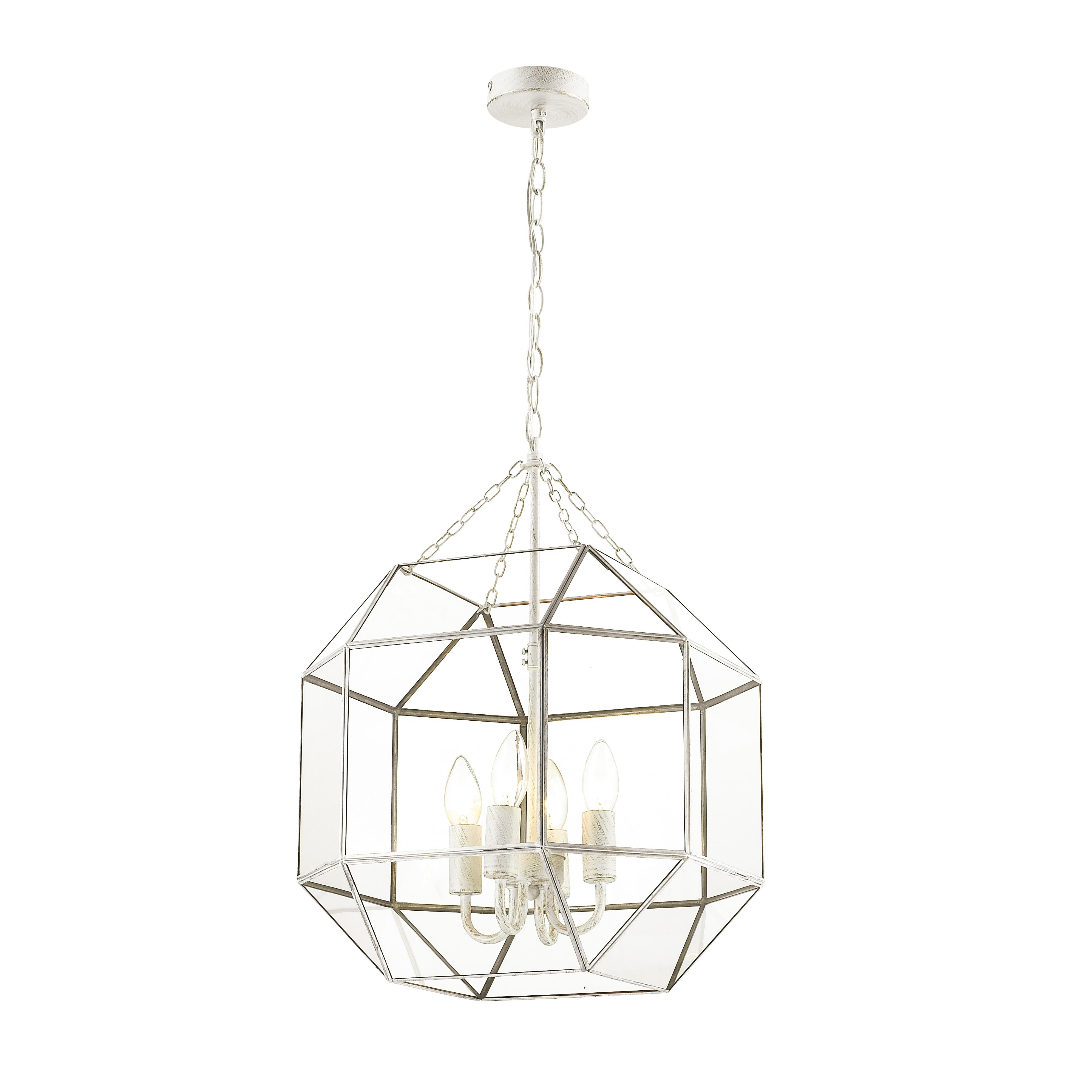 FAVOURITE Hängeleuchte Quadratum, mit hochwertiger Buntglasfenster-Technik