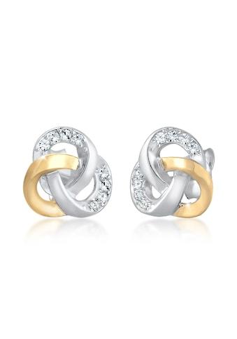 Elli Paar Ohrstecker »Knoten Bi - Color Swarovski® Kristalle 925er Silber« kaufen