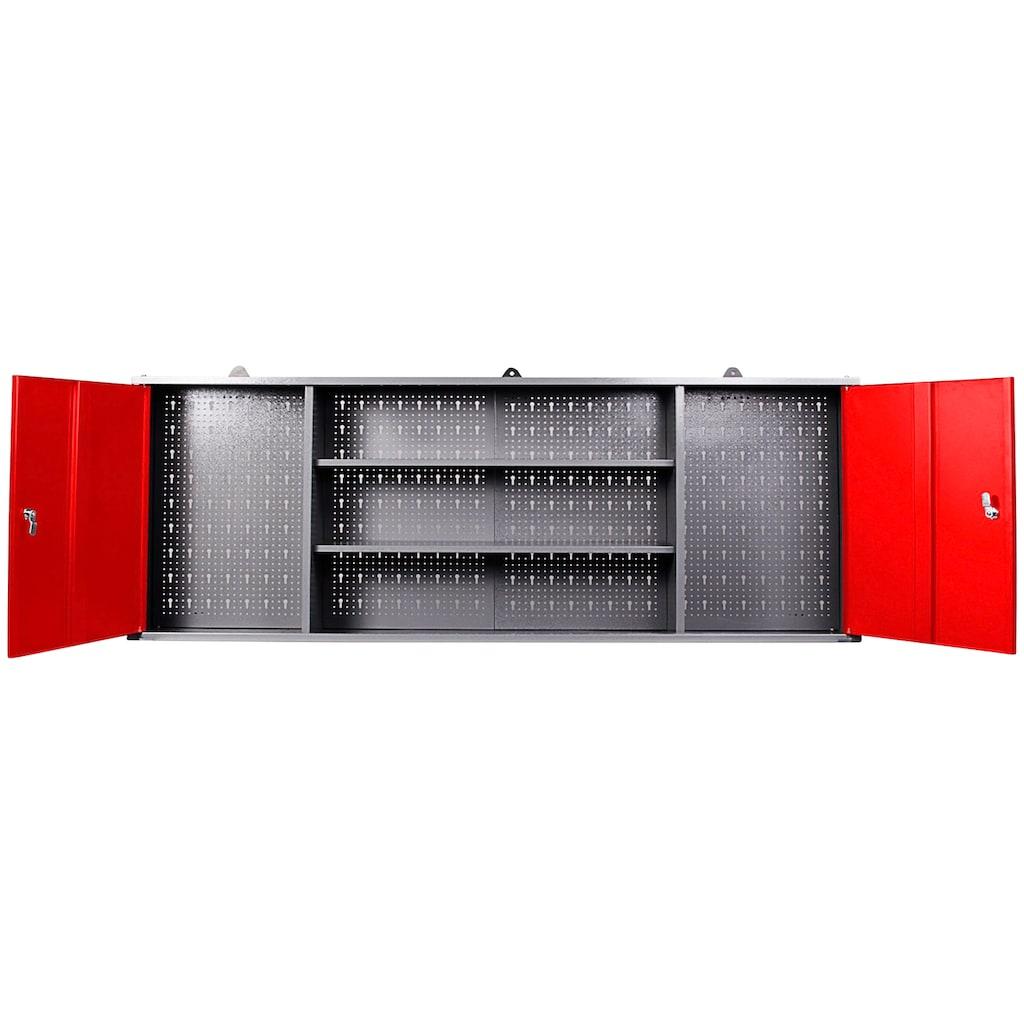 ONDIS24 Werkstatt-Set »Paul«, 2 Türen, 2 Einlegeböden, Eurolochrückwand