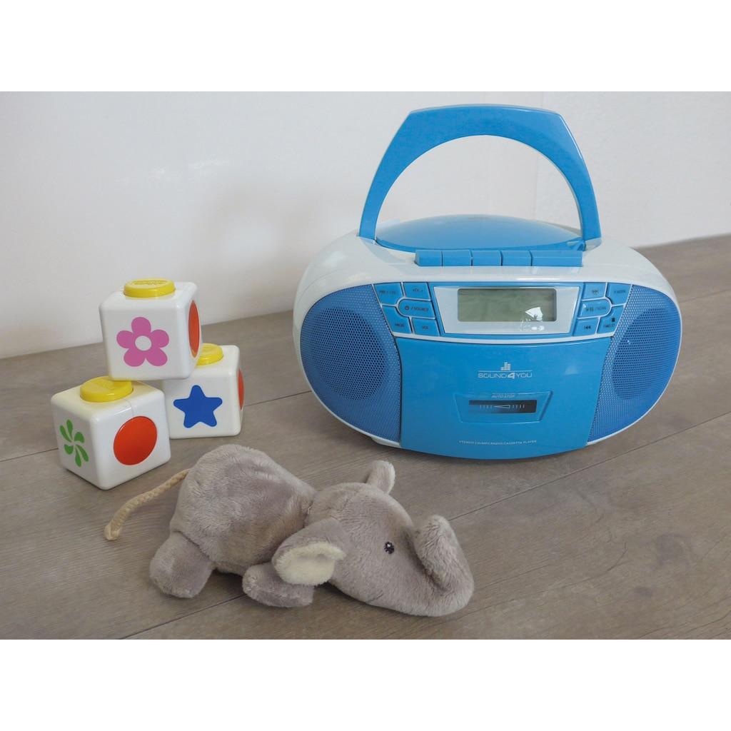 Schwaiger CD-Player mit Radio FM Kasette MP3 USB Anschluss AUX Kopfhörer »UKW Stereo Boombox«