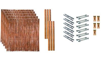 T&J Geflechtzaun »Portland 3«, 5 Elemente, LxH: 954x180 cm kaufen