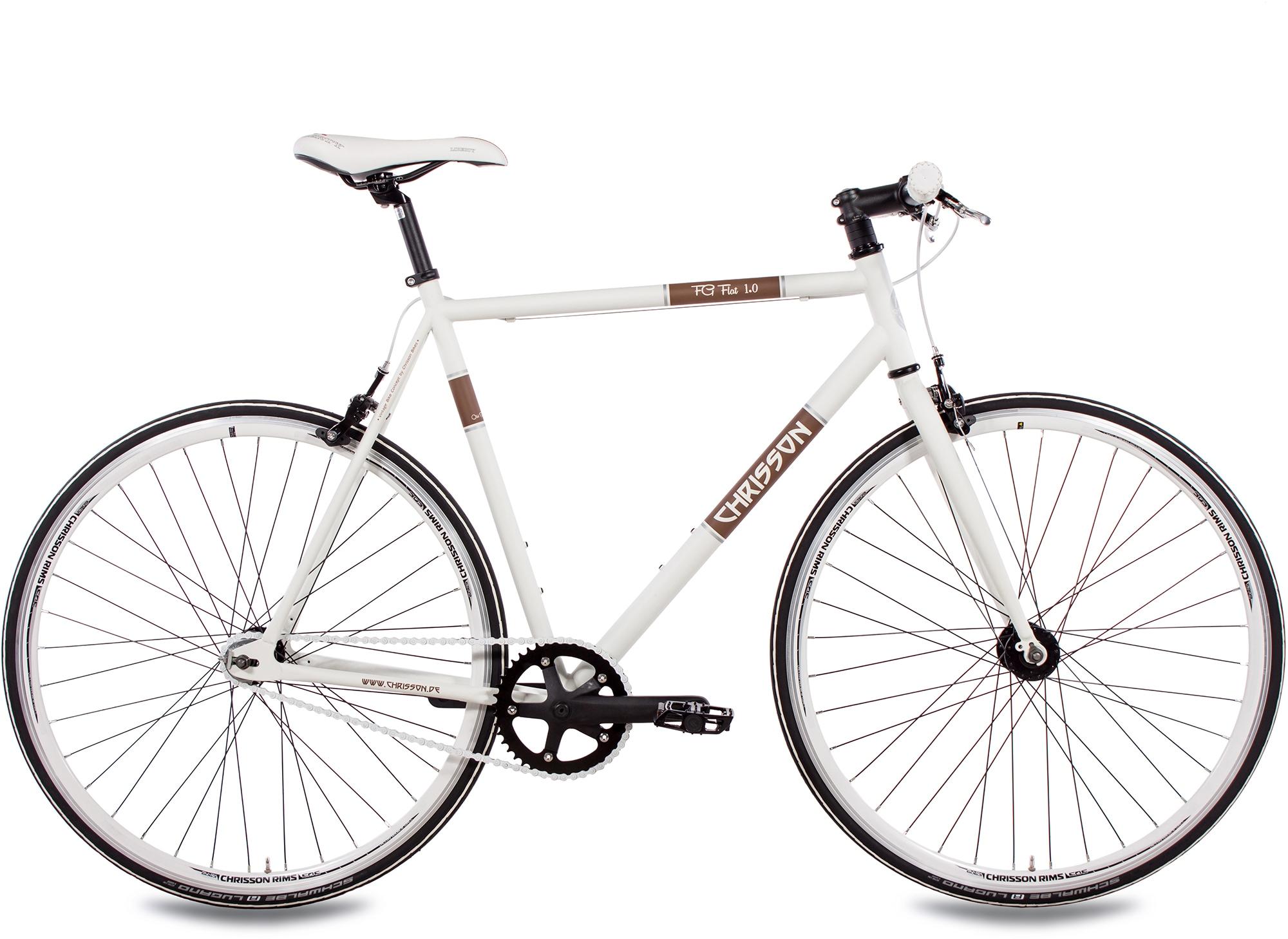 Chrisson Singlespeed FG Flat 1.0, ohne Schaltung, (1 tlg.) weiß Fahrräder Zubehör Fahrrad