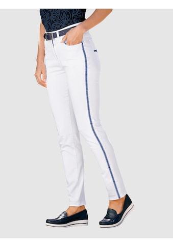 Paola 7/8-Jeans, mit Kontraststickerei kaufen