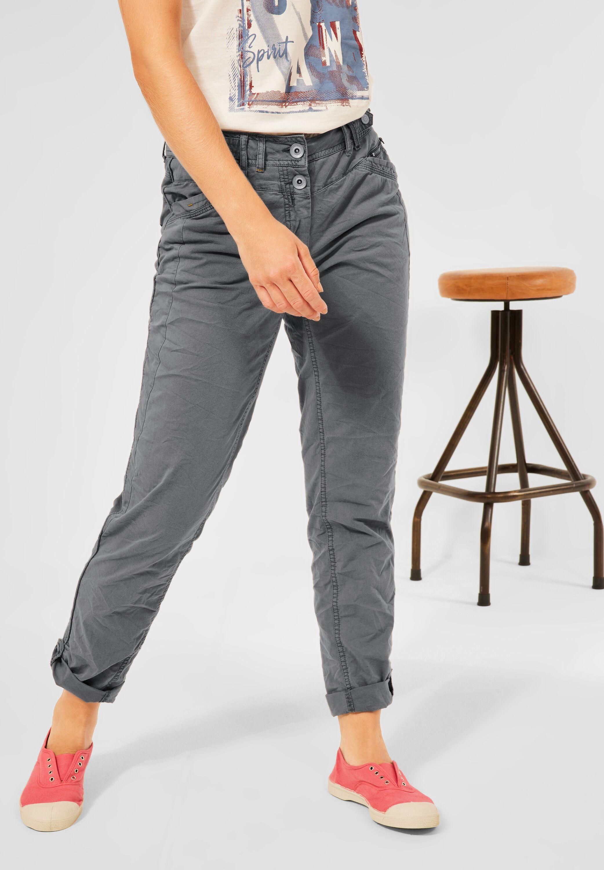 Cecil Röhrenhose, im Loose Fit grau Damen Röhrenhose Röhrenhosen Hosen