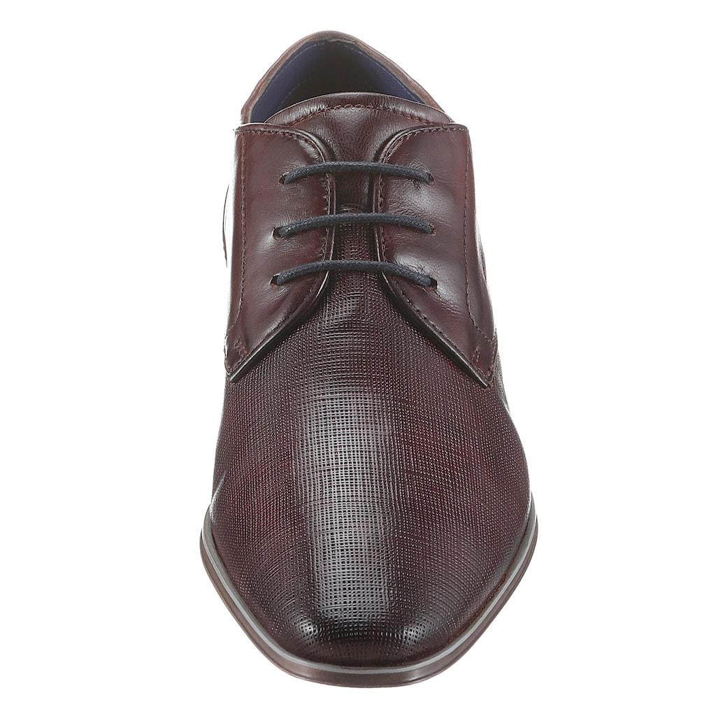 bugatti Schnürschuh »Morino«, mit farblich abgesetzter Ferse