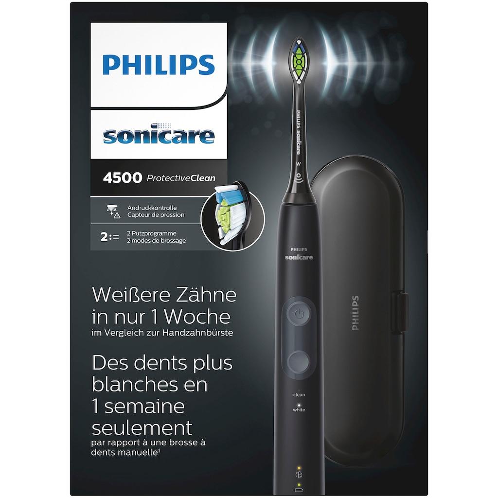 Philips Sonicare Elektrische Zahnbürste »HX6830/53«, 1 St. Aufsteckbürsten, ProtectiveClean 4500 Schallzahnbürste mit 2 Putzprogrammen inkl. Reiseetui & Ladegerät