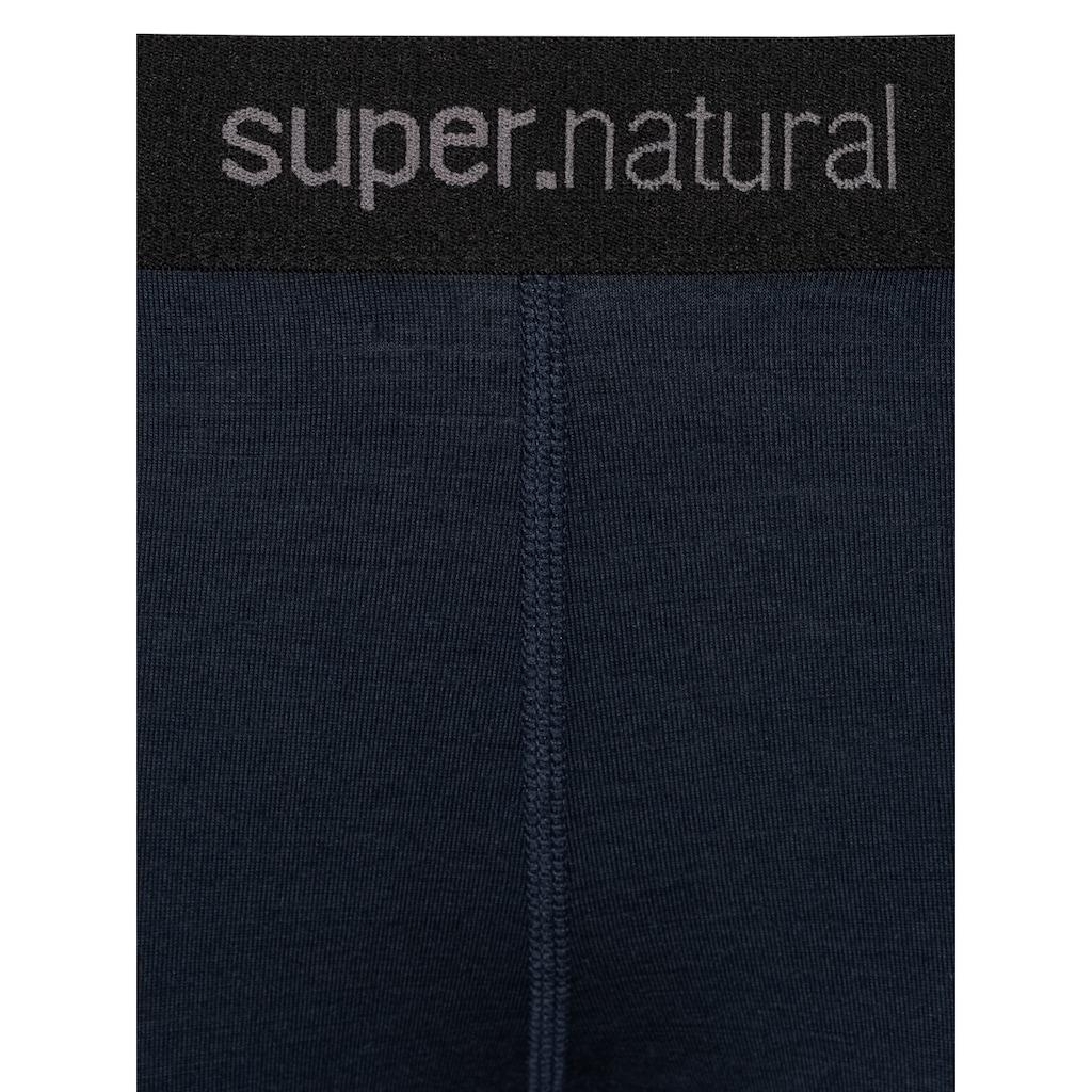 SUPER.NATURAL Funktionstights »W BASE TIGHT 230«, formstabiler Merino-Materialmix