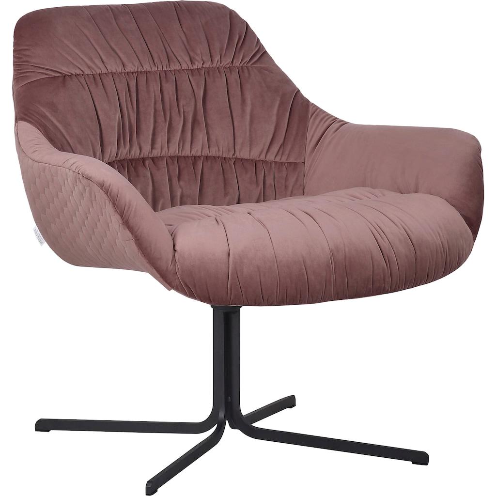Guido Maria Kretschmer Home&Living Drehstuhl »Icony«, Sessel mit moderner Raffung, komplett gepolstert