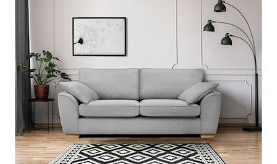 DELAVITA 3-Sitzer »Savoy«, gemütliches Sofa mit vielen Kissen, in 2 Bezugsqualitäten kaufen