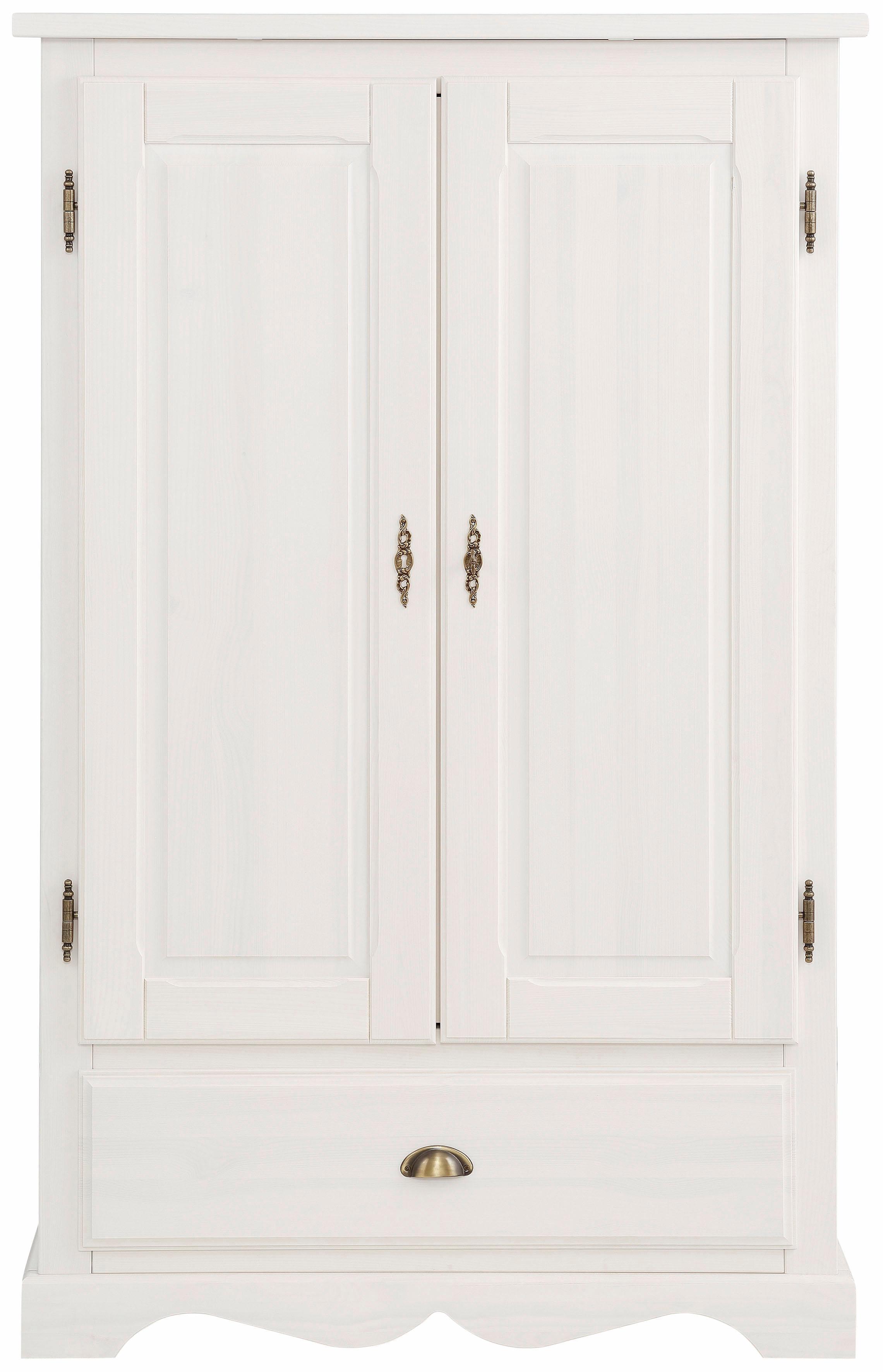 Home affaire Wäscheschrank Teo 2trg mit 1 Schublade und 2 Einlegeböden Breite 95 cm