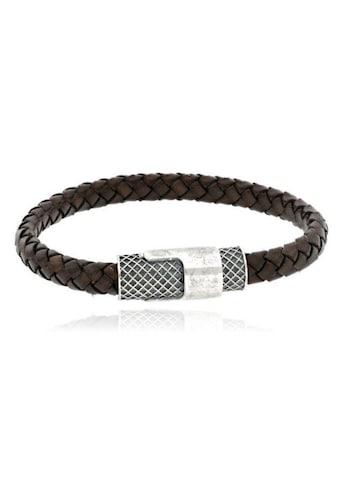 JULES & GENTS Armband »#gentletie Braun«, Lederarmband geflochten kaufen