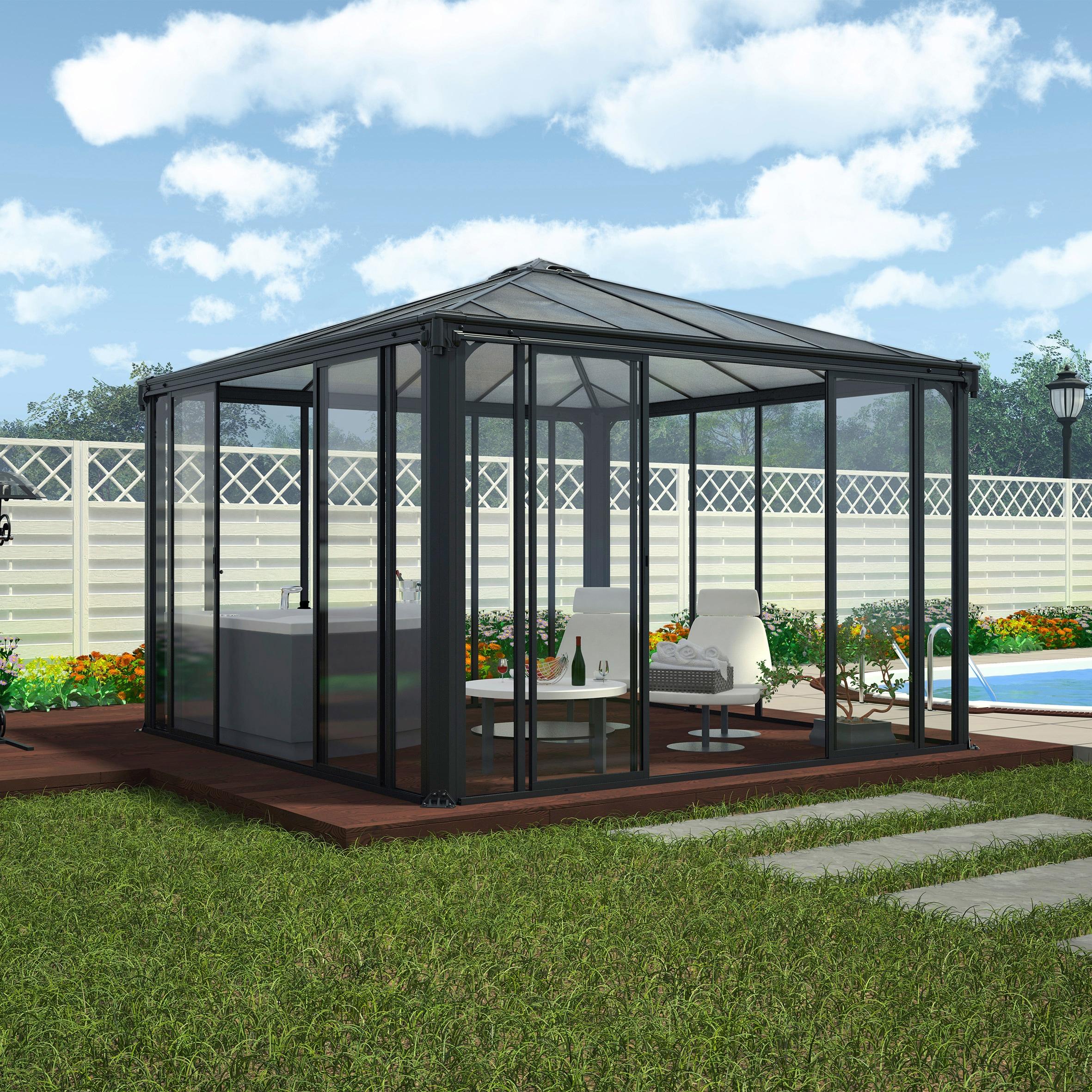 Palram Pavillon Ledro 3600, BxT: 360x360 cm günstig online kaufen