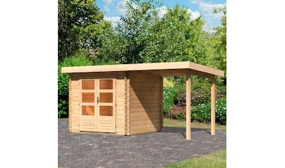 WOODFEELING Set: Gartenhaus »Bastrup 2«, BxT: 455x273 cm, mit Anbaudach kaufen