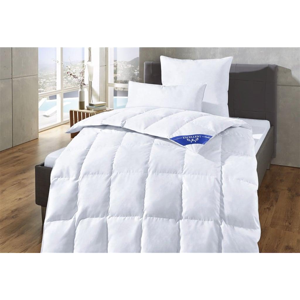 Excellent Daunenbettdecke »Komfort«, leicht, Füllung 60% Daunen, 40% Federn, Bezug 100% Baumwolle, (1 St.), Schlafkomfort fürs ganze Jahr!